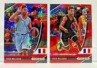 Theo Maledon 2 Card ROOKIE Lot Red Ice Prizm 2020 Panini Prizm Draft Picks