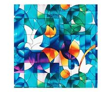 Dove Stained Glass Decorative Window Film 36