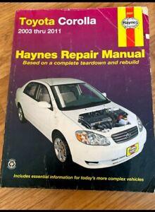 2003-2011 Toyota Corolla Haynes and Chilton Repair Guides