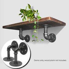 120mm Iron Steel Steampunk Industrial Black Pipe Shelf Brackets Holder DIY