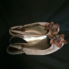 Sam & Libby Brown Slingback Flats Size 9