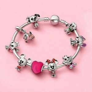 New Silver Charm Bracelet with DISNEY BABIES European Charms