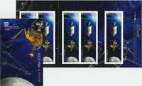 fs. APOLLO 11 = 50th = Booklet of 10 stamps (5 Tête-Bêche Pairs) Canada 2019 MNH