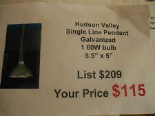 Hudson Valley 3934-GA   INDUSTRIAL GALVANIZED PENDANT Single Down Light
