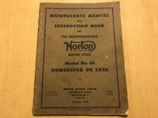 NORTON MODEL 88 DOMINATOR DELUXE OWNERS MAINTENANCE & INSTRUCTION MANUAL 1953