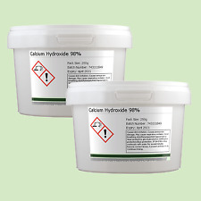 Calcium Hydroxide 98% 2 x 250g (500g) Including Delivery