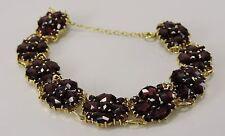 Vintage Damen Armkette mit böhmischem Granat / vergoldet