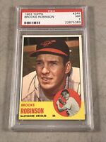 1963 TOPPS #345 BROOKS ROBINSON PSA NM 7 HOF 22875389