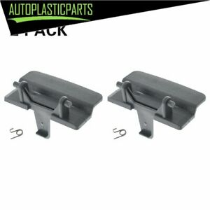 2 * Dark Gray center console seat lid latch For Ford F-150 2010 - 2018