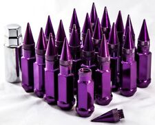92mm AodHan XT92 12X1.5 Steel Purple Spiked Lug Nuts Fits Mitsubishi Eclipse Lan