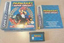 Jeu Mario Kart Super Circuit pour Game Boy Advance - COMPLET (boite, manuel)