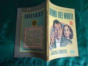 """AGATHA CHRISTIE """"GIORNO DEI MORTI"""" LIBRI GIALLI  N. 20 MONDADORI 1947"""