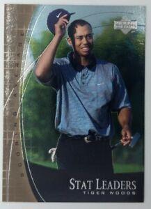 2001 01 Upper Deck Stat Leaders Scoring Average Tiger Woods #SL11, Golf