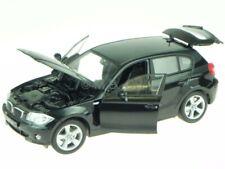 BMW e87 120i black modelcar 12557 Welly 1:18