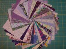"""New listing 60 purple colored cotton fabric quilt squares 4 1/2"""" x 4 1/2"""" Sq1928"""