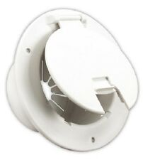 RV electrical cable hatch white camper 3 1/2 to 4 inch inlet cover power 541-2-A