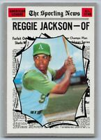 1970  REGGIE JACKSON - Topps ALL-STAR Baseball Card # 459 - OAKLAND ATHLETICS
