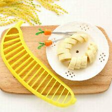 Banana Slicer Cutter Safe Fruit Chopper Salad Maker Kitchen Gadgets Tools Cute