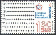 Mexico 1976 Interphil '76/Perforation Gauge/Stamp Exhibition/StampEx 1v (n42029)