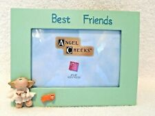 Picture Frame Angel Cheeks Russ Berrie Best Friends Green For 4X6 Photo Gift Box