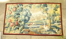 A Good 18th Century Verdure Tapestry with Birds