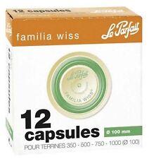 48 Capsule pour terrine pot a gras Familia Wiss ° 100 MM LE PARFAIT