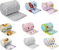 BUMPER ALLROUND COT COTBED CRIB BABY BEDDING 100% COTTON 90X40 120x60 140x70