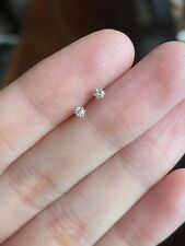 0.10 CARAT DIAMOND STUD EARRINGS (With Certificate) - WHITE GOLD