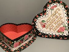 Mary Engelbreit Lot Heart Shaped Gift Box With Cardboard Ornament Gift Tag