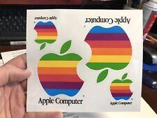 1991 Vintage Apple Computer Rainbow Stickers (4)