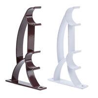 Curtain Pole Bracket Double Rod Holder Heavy Duty Metal Durable Base Rod Pole Y