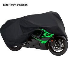Dust Motorcycle Cover XXXL Waterproof Outdoor Rain UV Protector Motorbike Black