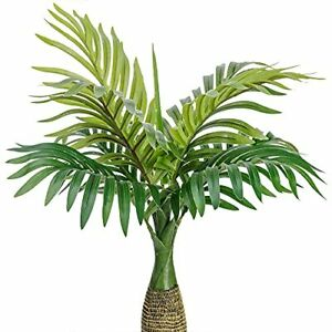 Artificial Palm Plants Leaves Faux Fake Tropical Mini Palm Tree Leaves
