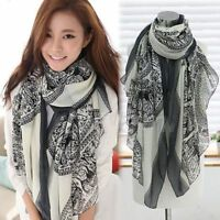 Fashion Womens Long Print Voile Scarf Ladies Girls Neck Wrap Shawl Large Scarves