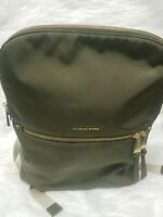 Michael Kors Polly Slim Nylon Backpack Olive Green