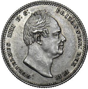 1834 SHILLING - WILLIAM IV BRITISH SILVER COIN - V NICE
