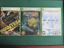 BIOSHOCK 2, PREY,WANTED WEAPONS OF FATE,XBOX 360,LOTE PACK JUEGOS