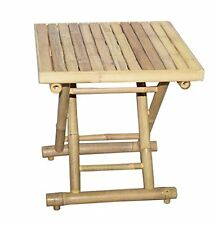 Bamboo 54 Square Bamboo Folding Table Low 5883  New