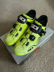 Sidi KAOS Cycling Shoes Yellow Fluo - EUR 45 US 10.5