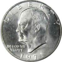 1971 S Eisenhower Dollar BU Uncirculated Mint State 40% Silver IKE $1 Coin