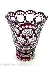wunderschöne Art Deco Glasvase - überfangen und geschliffen -  Haida