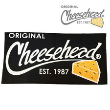 Cheesehead Black Beach Towel
