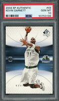 Kevin Garnett 2004 Upper Deck SP Authentic Basketball Card #49 PSA 10