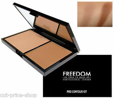 Freedom Makeup Pro Powder Palette Contour Kit Highlighter and Bronzer Medium 02