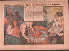 FABRICATION PIECES 5 FRANCS FRS HOTEL DE LA MONNAIE ILLUSTRATION 1933