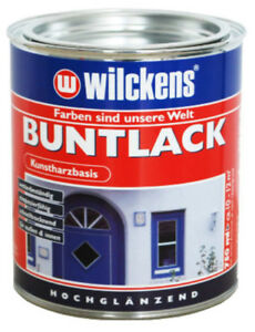 (9,32€/1l) WILCKENS Buntlack Farbe FEUERROT RAL 3000 hochglänzend 0,75 Liter