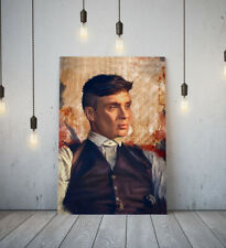 TV PEAKY BLINDERS -DEEP FRAMED CANVAS WALL ART PICTURE PAPER PRINT- BLACK WHITE