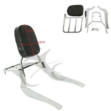 Chrome Sissy Bar Backrest w/ Luggage Rack For Suzuki Boulevard C50 M50 2005-2009
