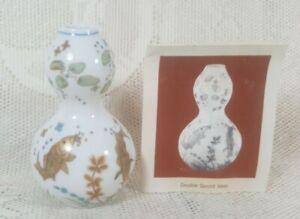 Vintage Franklin Mint Miniature Porcelain Gourd Vase Imperial Dynasties 1980