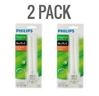 2 PACK Philips 26-Watt G24Q-3 PL-C 4-Pin CFL (non-integrated) Light Bulb